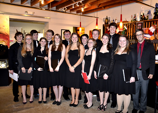 Badger High School Chorus provided our entertainment