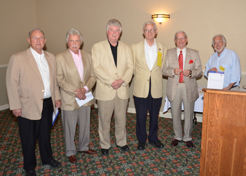 Lions Steinke, Geraci, Henry, Doolittle, Hasely and Heinlein are honored for more than 10 years of service