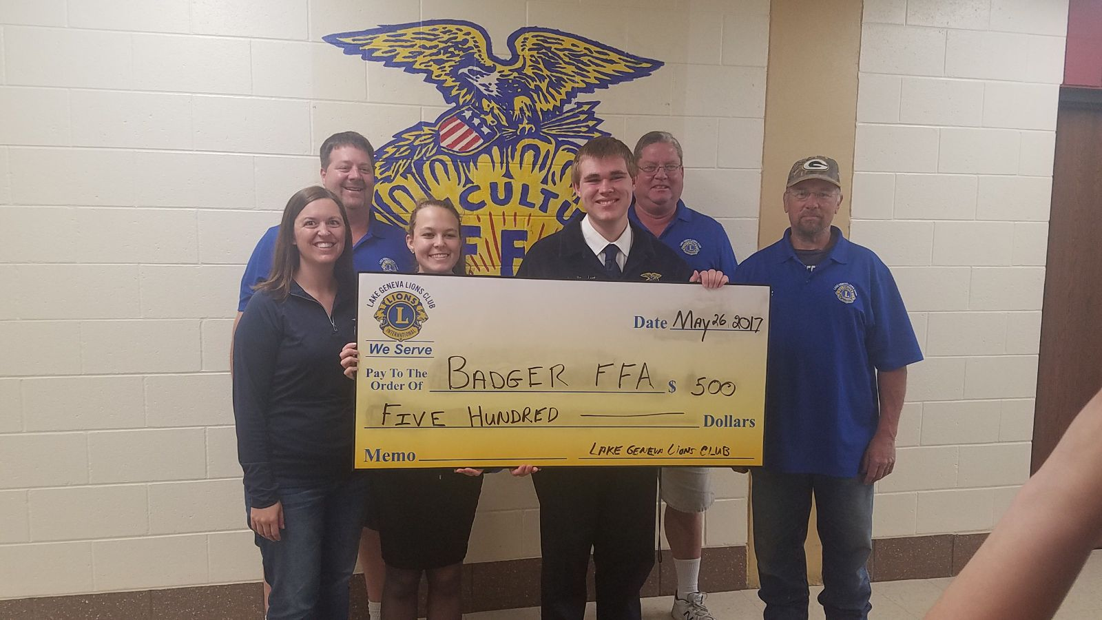 Badger FFA Donation