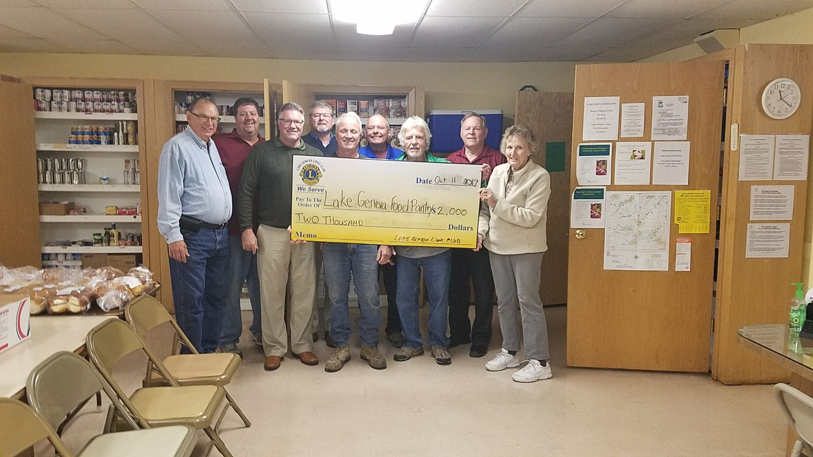 Lake Geneva Food Pantry Donation