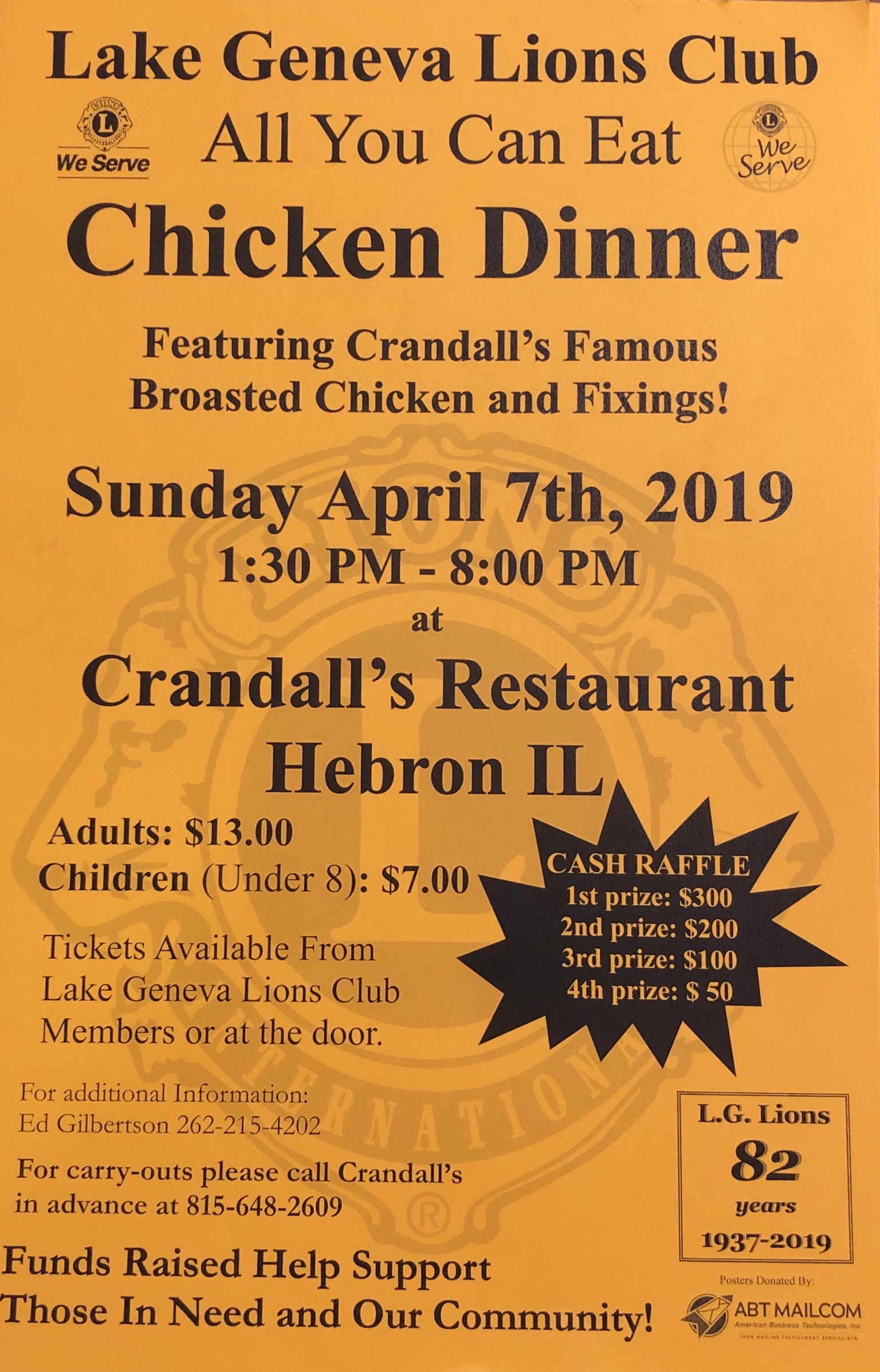 Lake Geneva Lions Club Chicken Dinner