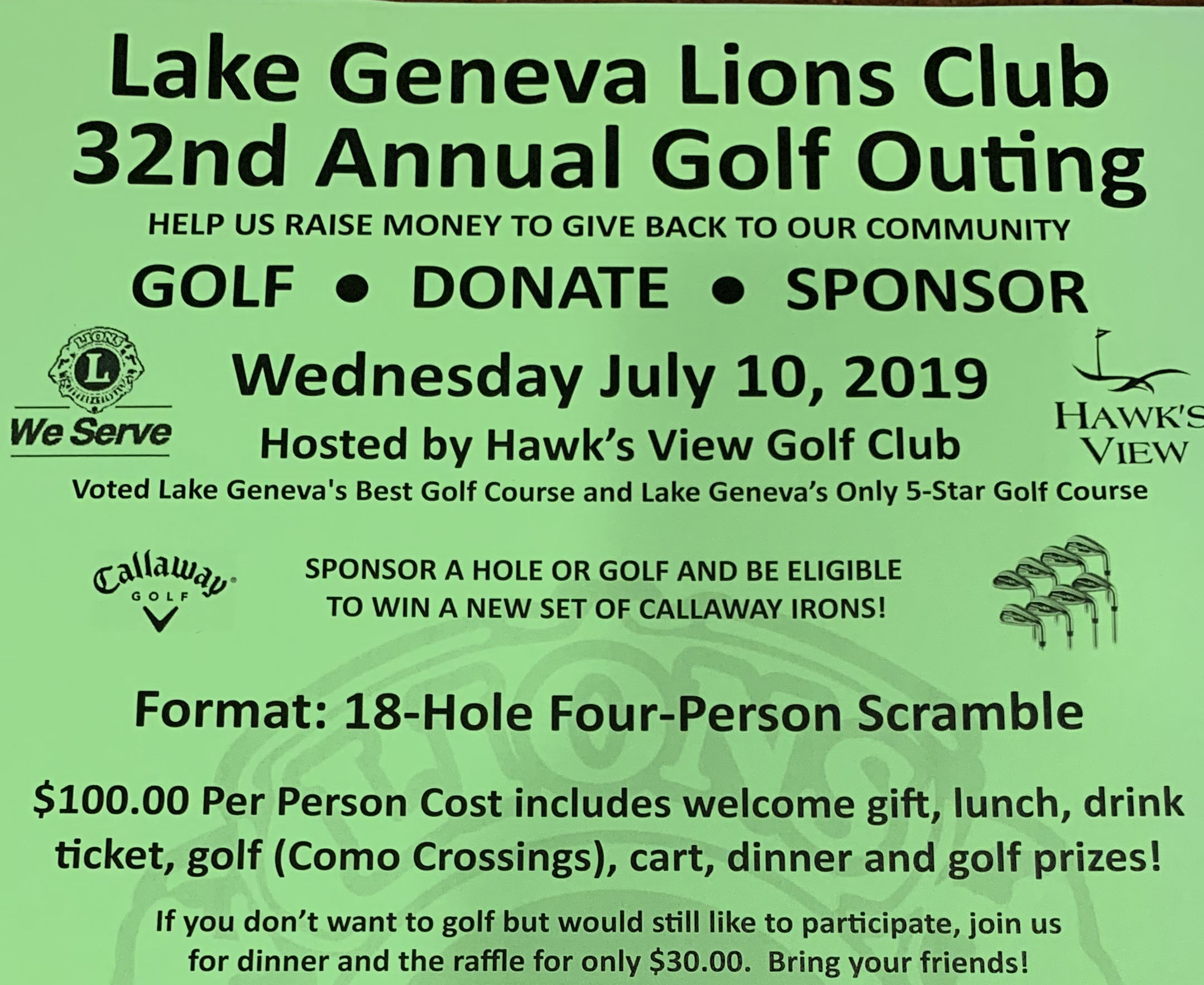32nd Annual Golf Outing