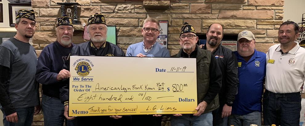 American Legion Donation
